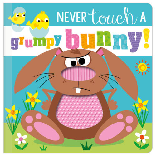 First Spread of Never Touch a Grumpy Bunny! (9781800582699)