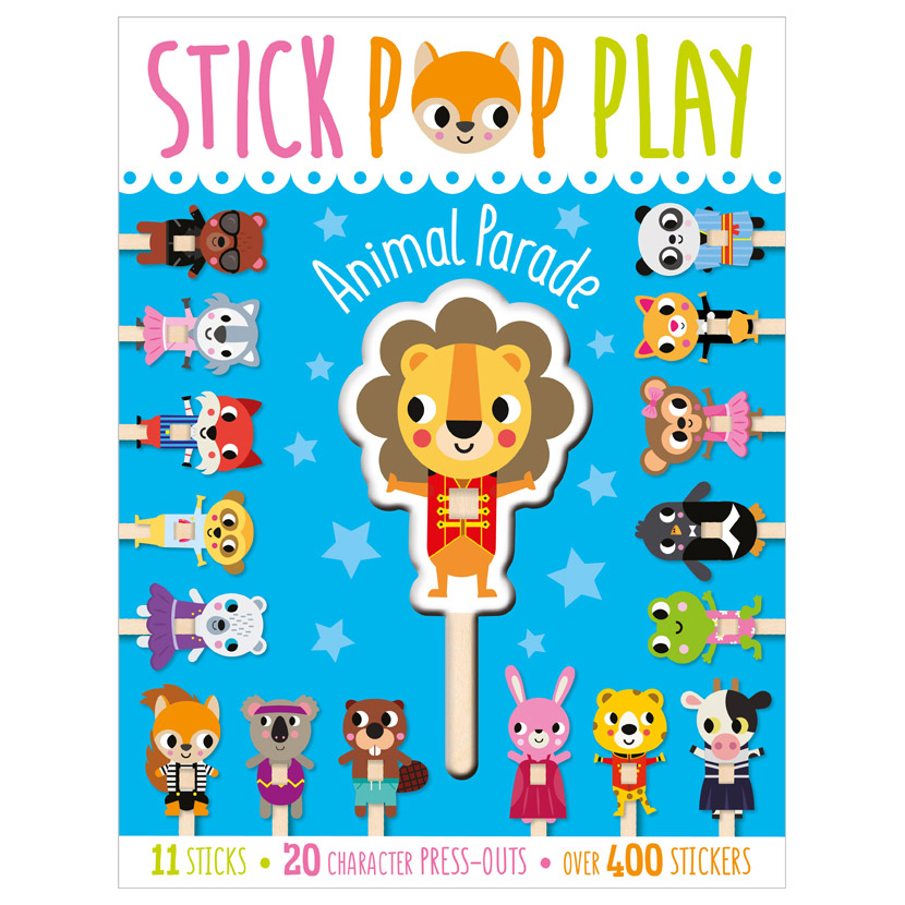 First Spread of Stick Pop Play Animal Parade (9781800581920)