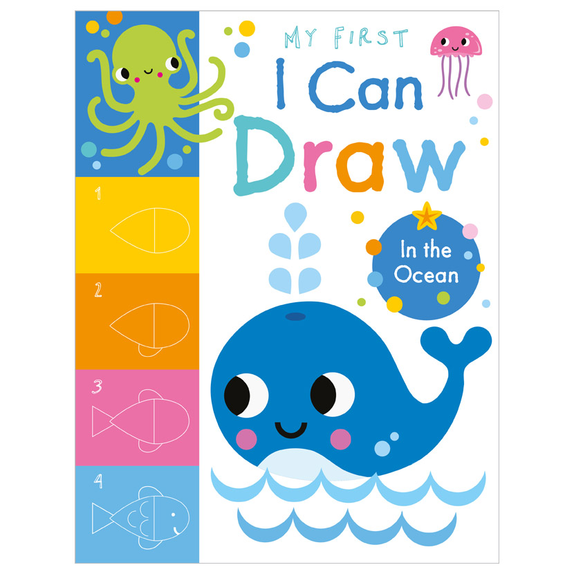 First Spread of My First I Can Draw In the Ocean (9781800581968)