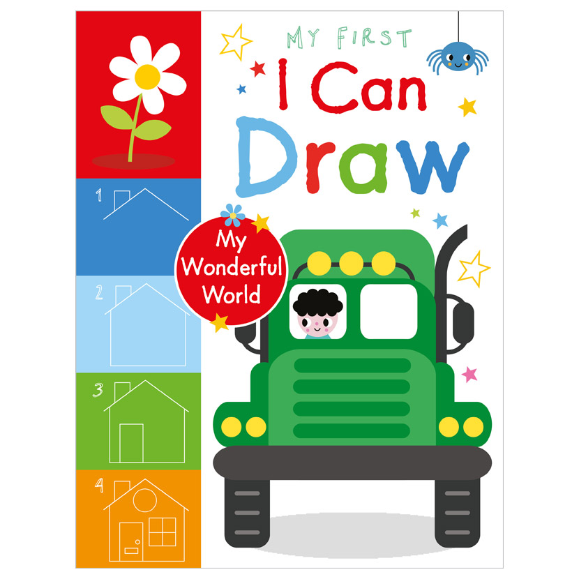 First Spread of My First I Can Draw My Wonderful World (9781800581975)