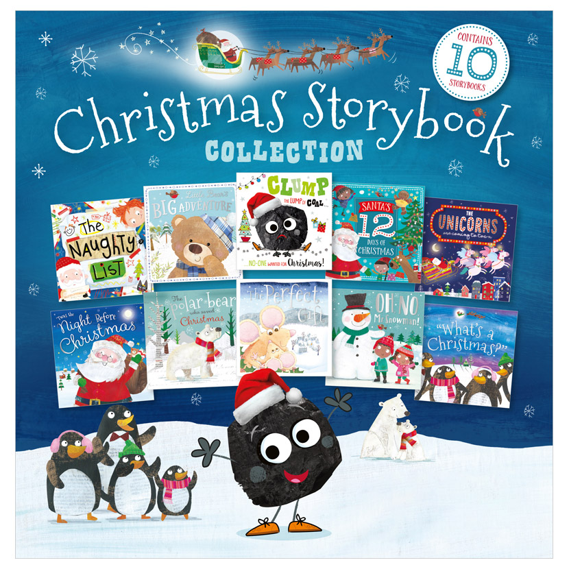 First Spread of Christmas Story Book 10-Set Ziplock (9781800581111)